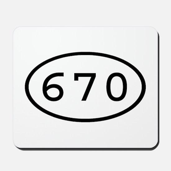 670 Oval Mousepad