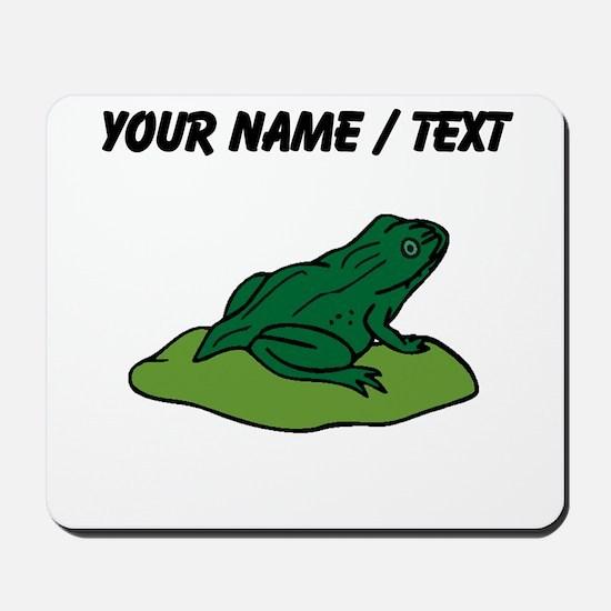 Custom Green Frog On Lilypad Mousepad