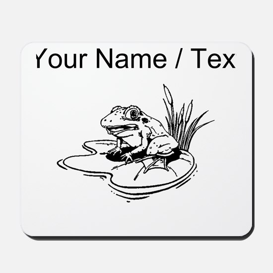 Custom Frog On Lilypad Mousepad