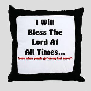 last nerve Throw Pillow