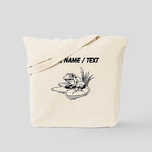 Custom Frog On Lilypad Tote Bag