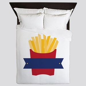 French Fries Queen Duvet