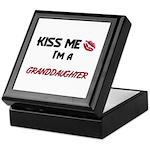 Kiss Me, I'm a GRANDDAUGHTER Keepsake Box