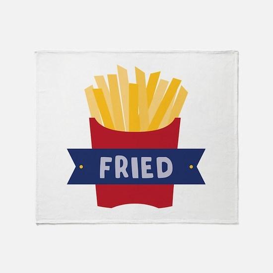 Fried Throw Blanket