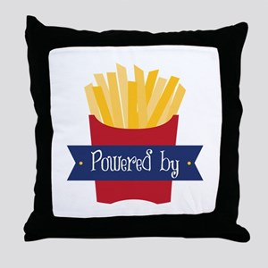 Powered By Throw Pillow