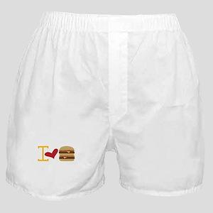 I Love Burger Boxer Shorts