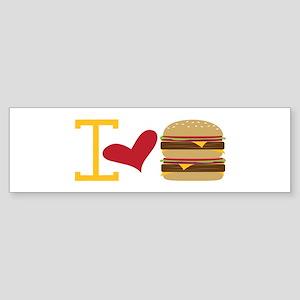 I Love Burger Bumper Sticker