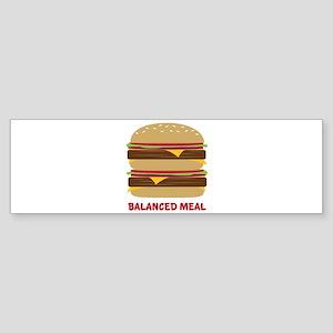 Balanced Meal Bumper Sticker