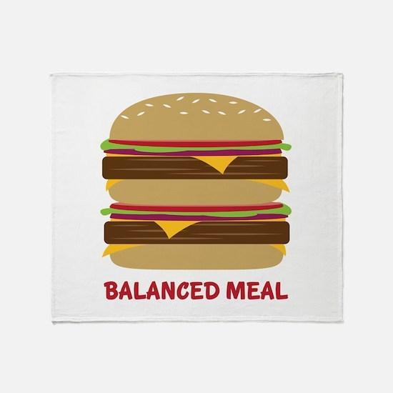 Balanced Meal Throw Blanket