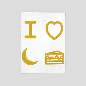 I heart moon cake 5'x7'Area Rug