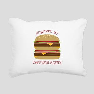 Powered By Rectangular Canvas Pillow
