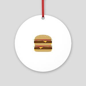 Double Burger Ornament (Round)