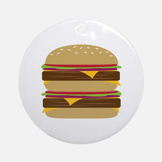Double Burger Ornament (Round)