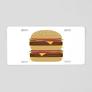 Double Burger Aluminum License Plate