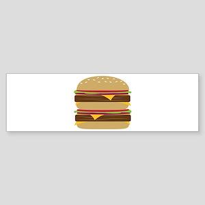 Double Burger Bumper Sticker