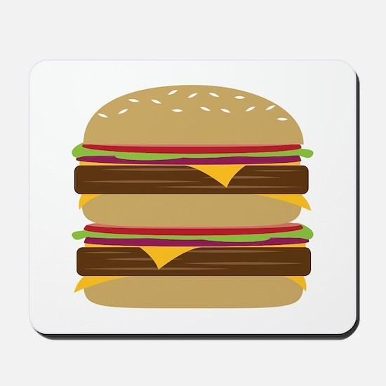 Double Burger Mousepad
