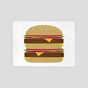 Double Burger 5'x7'Area Rug