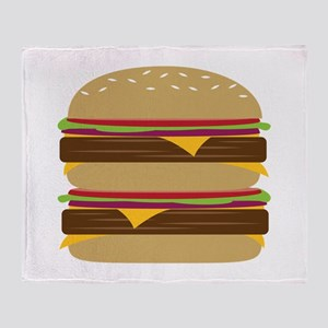 Double Burger Throw Blanket