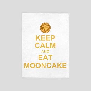 Keep Calm mooncake 5'x7'Area Rug