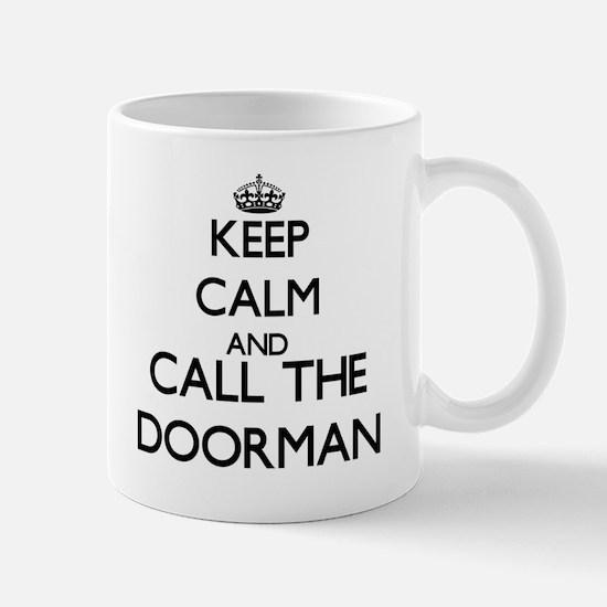 Keep calm and call the Doorman Mugs