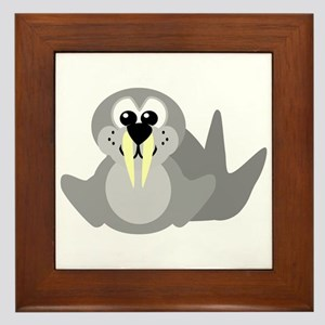 Cute Little Goofkins Walrus Framed Tile