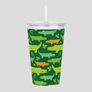 Crocodile Alligator Ju Acrylic Double-wall Tumbler