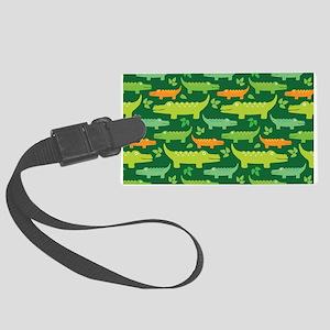 Crocodile Alligator Jungle Large Luggage Tag