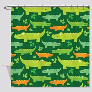 Crocodile Alligator Jungle Shower Curtain