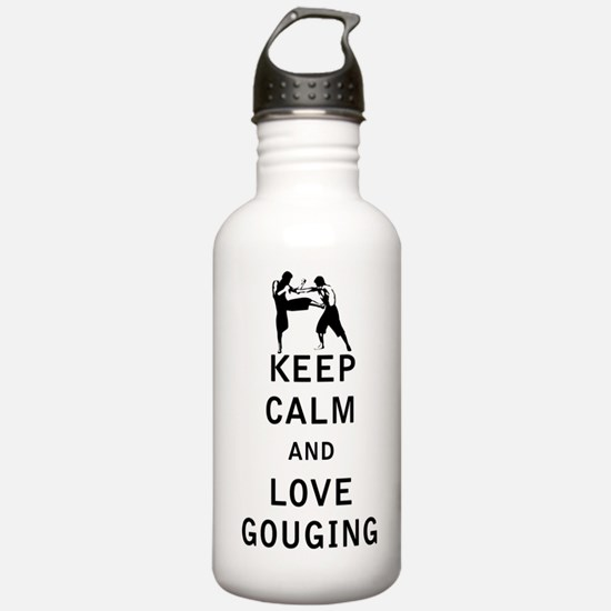 Keep Calm and Love Gouging Water Bottle