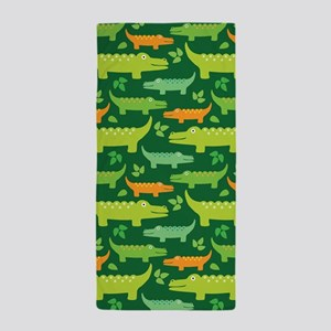 Alligator Crocodile Jungle Beach Towel