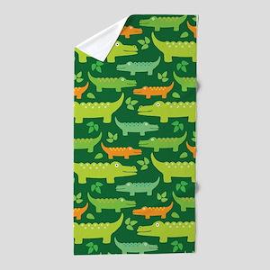 Alligator Crocodile Jungle Beach Towel