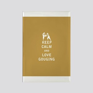 Keep Calm and Love Gouging Magnets