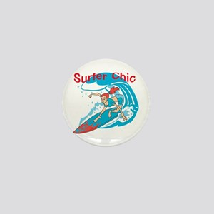 Surfer Chic Mini Button