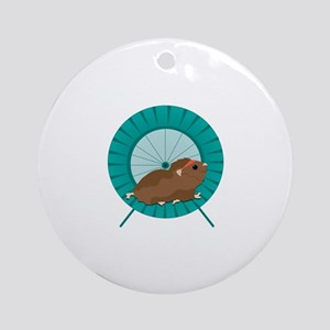 Hamster Treadmill Ornament (Round)