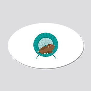 Hamster Treadmill Wall Decal