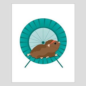 Hamster Treadmill Posters
