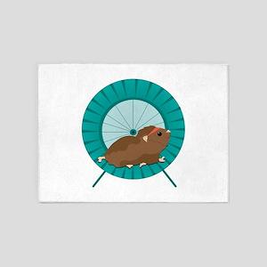 Hamster Treadmill 5'x7'Area Rug