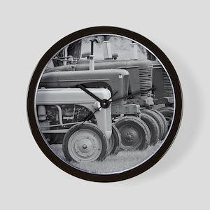 Old Farm Tractors Wall Clock