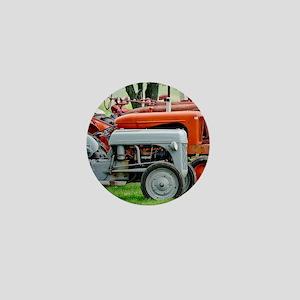Old Farm Tractor Mini Button
