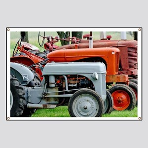 Old Farm Tractor Banner