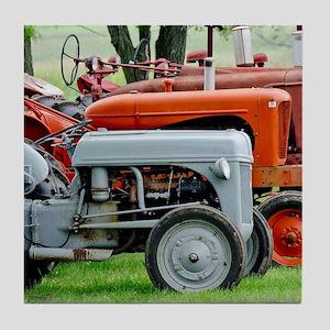 Old Farm Tractor Tile Coaster