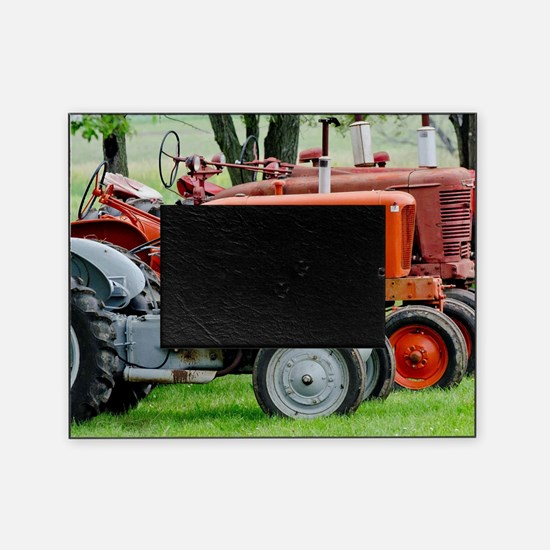 Old Farm Tractor Picture Frame