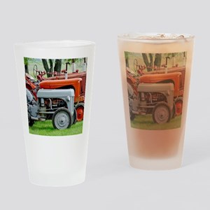 Old Farm Tractor Drinking Glass