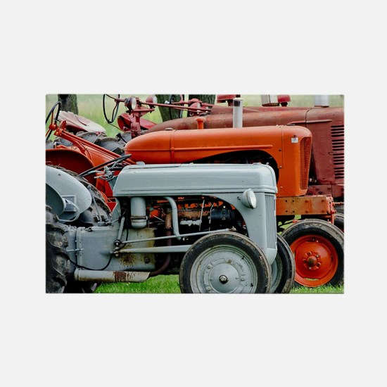 Old Farm Tractor Rectangle Magnet