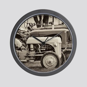 Old Farm Tractor Wall Clock