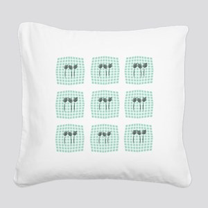 My Mint Photo Gallery Square Canvas Pillow