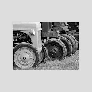 Old Farm Tractor 5'x7'Area Rug