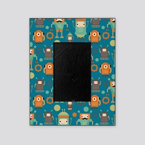 Robot Retro Pattern Picture Frame