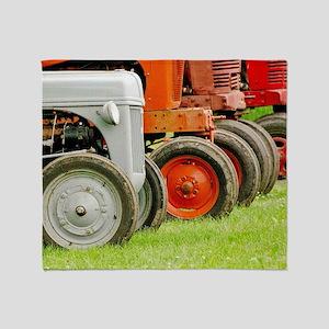 Old Farm Tractors  Throw Blanket