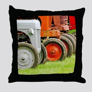 Old Farm Tractors  Throw Pillow
